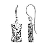 PRIMROSE Sterling Silver Flower Filigree Drop Earrings