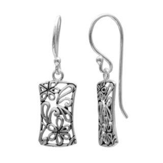 PRIMROSE Sterling Silver Flower Filigree Drop Earrings