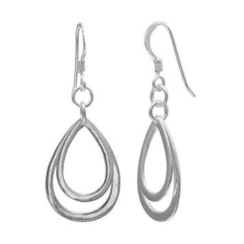 PRIMROSE Sterling Silver Double Teardrop Earrings