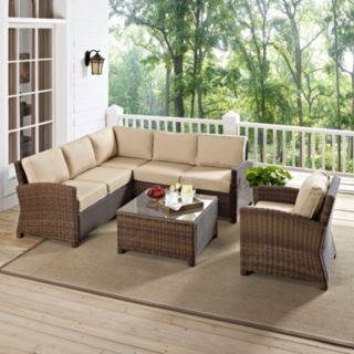 Bradenton Faux Wicker Seating 5-piece Set