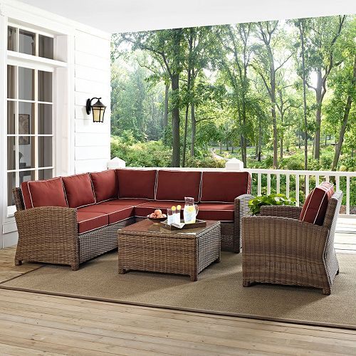 Bradenton Faux Wicker Seating 5-piece Set