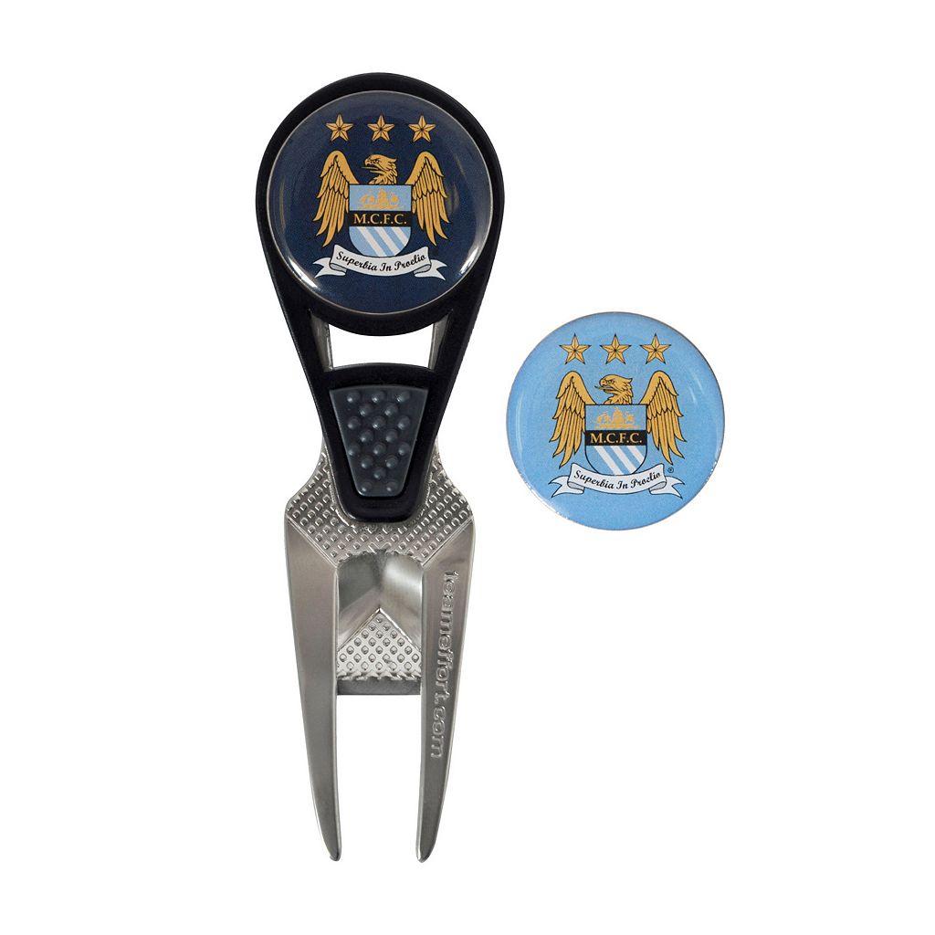 Team Effort Manchester City FC CVX Ball Mark Divot Repair Tool