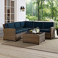Bradenton Faux Wicker Seating 4 pc Set