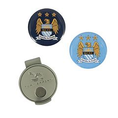 Team Effort Manchester City FC Hat Clip & Ball Marker Set