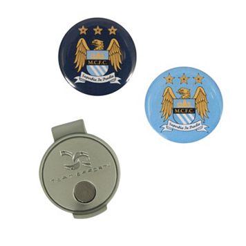 Team Effort Manchester City FC Hat Clip & Ball Marker Set