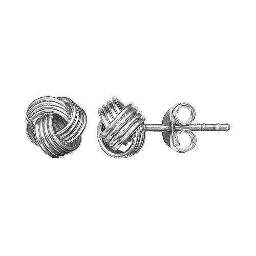 PRIMROSE Sterling Silver Love Knot Stud Earrings