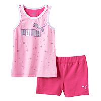Girls 4-6x PUMA Glitter Stars Tank & Shorts Set