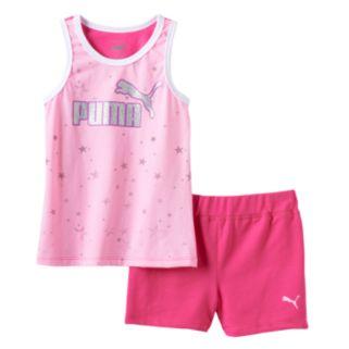 Girls 4-6x PUMA Glitter Stars Tank & Shorts Set