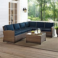 Bradenton Long Faux Wicker Seating 5-piece Set