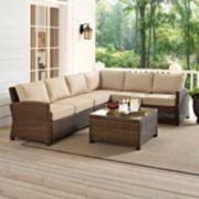 Bradenton Long Faux Wicker Seating 5-piece Set