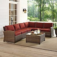 Bradenton Long Faux Wicker Seating 5 pc Set