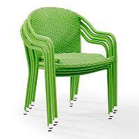 Palm Harbor Outdoor Wicker Stackable Chair 4-piece Set