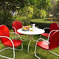 Griffith Metal Outdoor Dining 5 pc Set