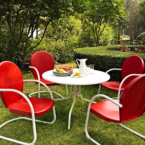 Griffith Metal Outdoor Dining 5 Piece Set