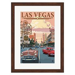 Metaverse Art 'Las Vegas' Framed Wall Art