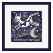Metaverse Art Chalkboard Nursery Rhymes IV Framed Wall Art