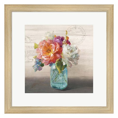 Metaverse Art French Cottage Bouquet I Framed Wall Art