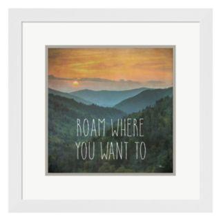 "Metaverse Art Wander I ""Roam Where You Want To"" Framed Wall Art"