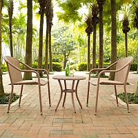 Palm Harbor Outdoor Wicker Cafe Seating 3-piece Set
