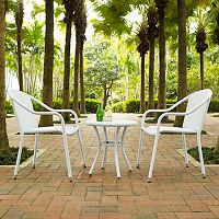 Palm Harbor Outdoor Wicker Cafe Seating 3 pc Set