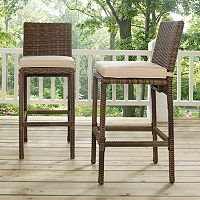 Bradenton Faux Wicker Bar Stool 2 pc Set