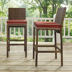 Bradenton Faux Wicker Bar Stool 2-piece Set