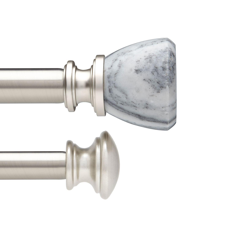 umbra marlow adjustable double curtain rod
