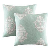 Madison Park Kensington Damask Square Throw Pillow 2-piece Set