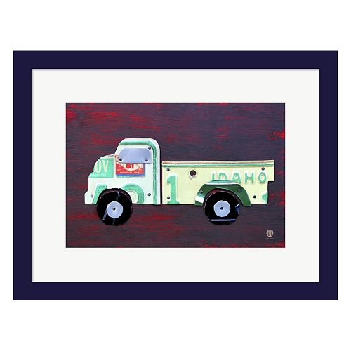 Metaverse Art Pickup Truck Framed Wall Art
