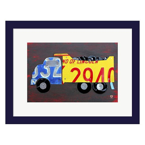 Metaverse Art Dump Truck Framed Wall Art