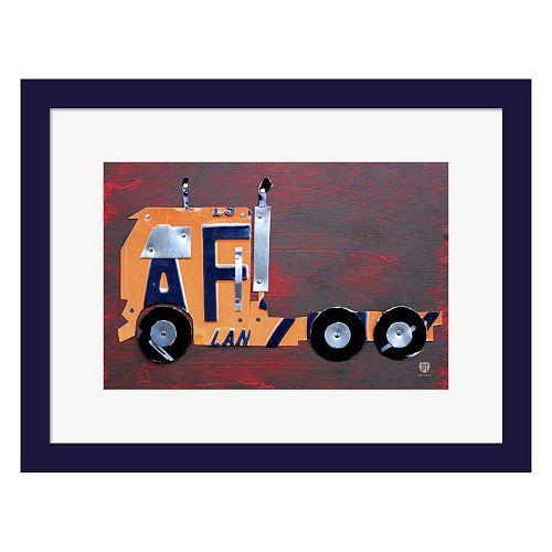 Metaverse Art Semi Truck Framed Wall Art