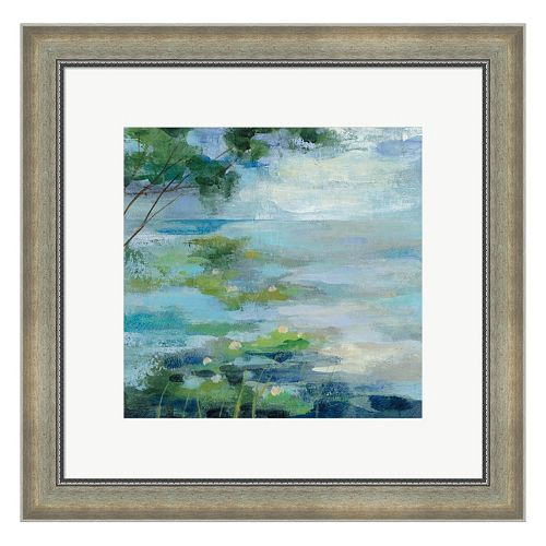 Metaverse Art Lily Pond I Framed Wall Art