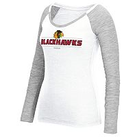 Women's Reebok Chicago Blackhawks Marled Slub Tee