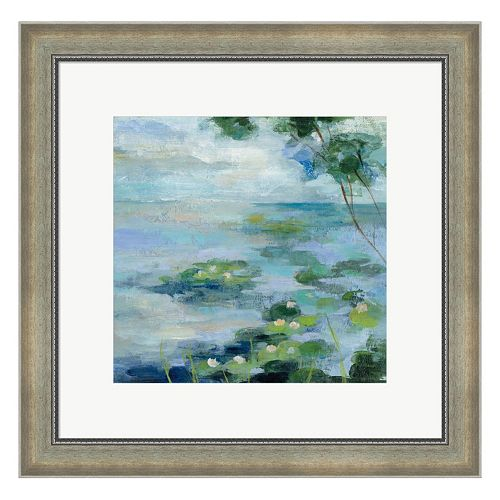 Metaverse Art Lily Pond II Framed Wall Art