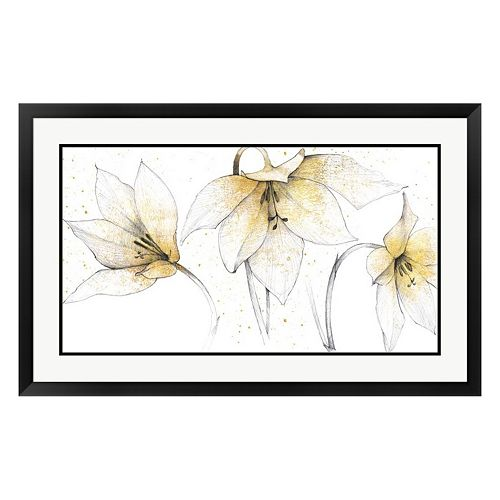 Metaverse Art Graphite Finish Floral Trio Framed Wall Art