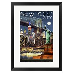 Metaverse Art New York City 1 Framed Wall Art