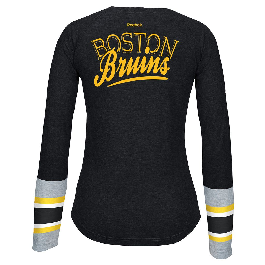 Women's Reebok Boston Bruins Jersey Henley