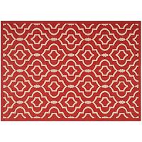 Safavieh Courtyard Clover Canyon Quatrefoil Indoor Outdoor Rug