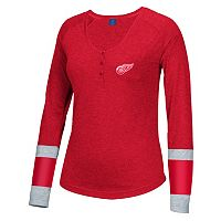 Women's Reebok Detroit Red Wings Jersey Henley
