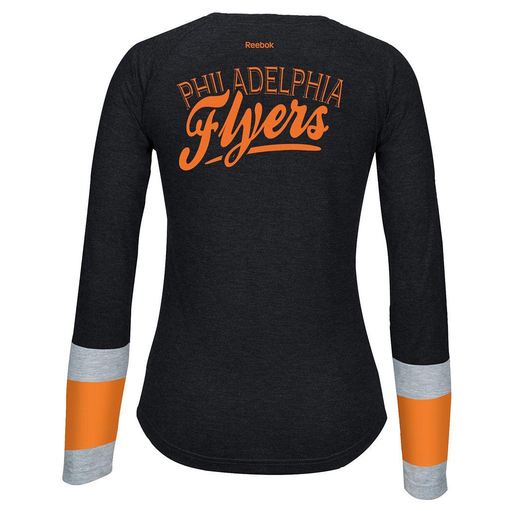 Women's Reebok Philadelphia Flyers Jersey Henley