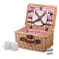 Picnic Time Red & White Plaid Catalina Basket