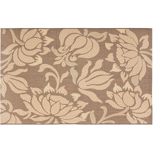 Safavieh Courtyard Floral Block Indoor Outdoor Rug