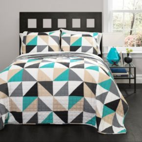Lush Decor Abner Geo Quilt Set
