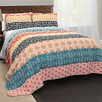 Lush Decor Bohemian Stripe 3 pc Quilt Set