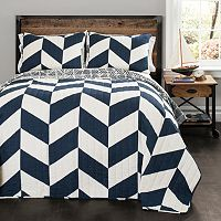 Lush Decor Jigsaw Chevron Quilt Set