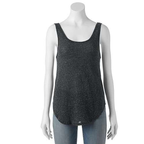 Juniors' Mudd® Textured Double-Scoop Tank Top
