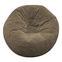 Small Microfiber Faux-Suede Bean Bag Chair