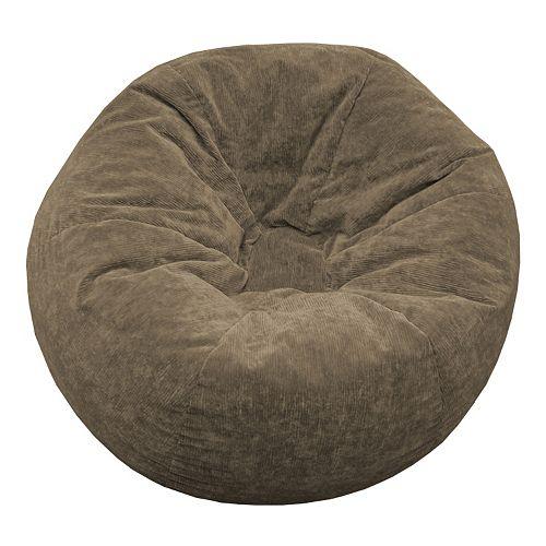 Small Microfiber Faux-Suede Bean Bag Chair
