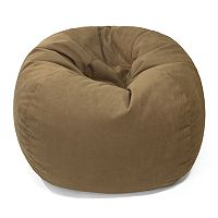 Medium Microfiber Faux-Suede Bean Bag Chair