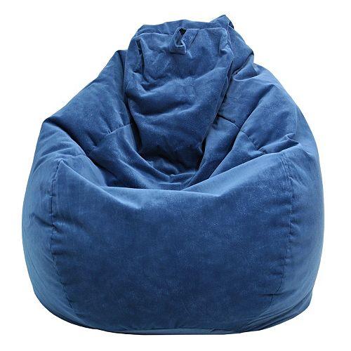 Large Teardrop Microfiber Faux-Suede Bean Bag Chair